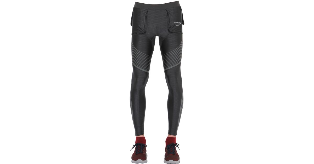64b947f370fd5 Nike Gray Utility Speed Compression Running Tights for men