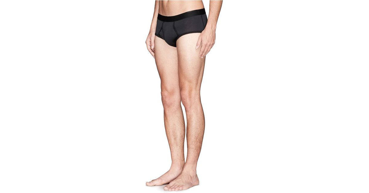 d09b0c48a5af Lyst - Sunspel Superfine Cotton Briefs in Black for Men