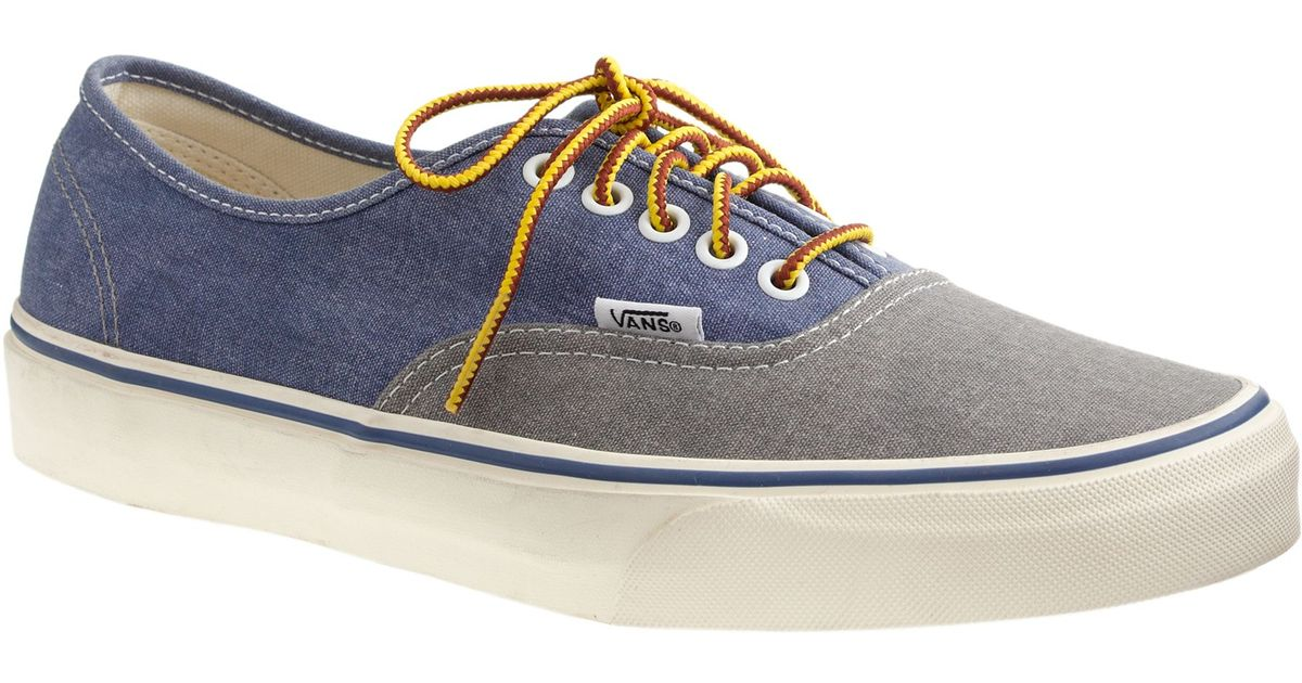 1790968055429d Lyst - J.Crew Men s Vans Washed Canvas Authentic Sneakers In Two-tone in  Gray for Men