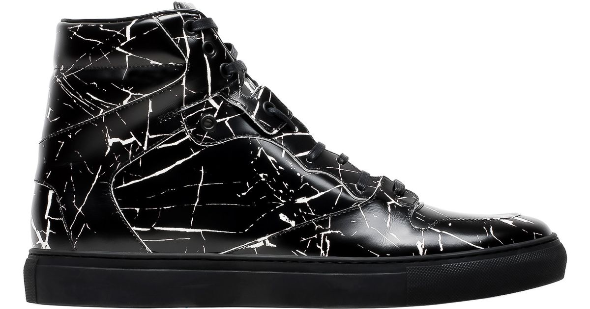 Balenciaga Marble High Sneakers In Black For Men Lyst