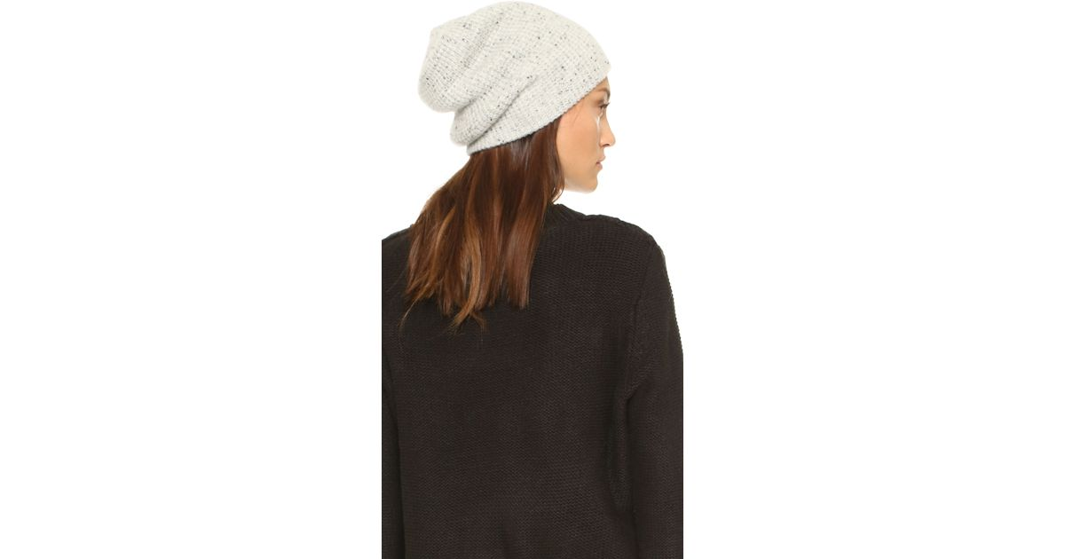 47c5c096a26 Lyst - Madewell Cashmere Waffle Knit Hat in Natural