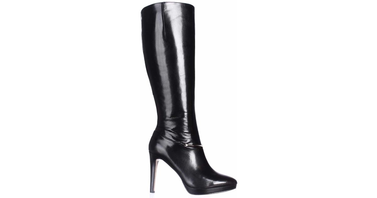db77762453a3 Nine West Pearson Wide-calf Knee High Boots in Black - Lyst