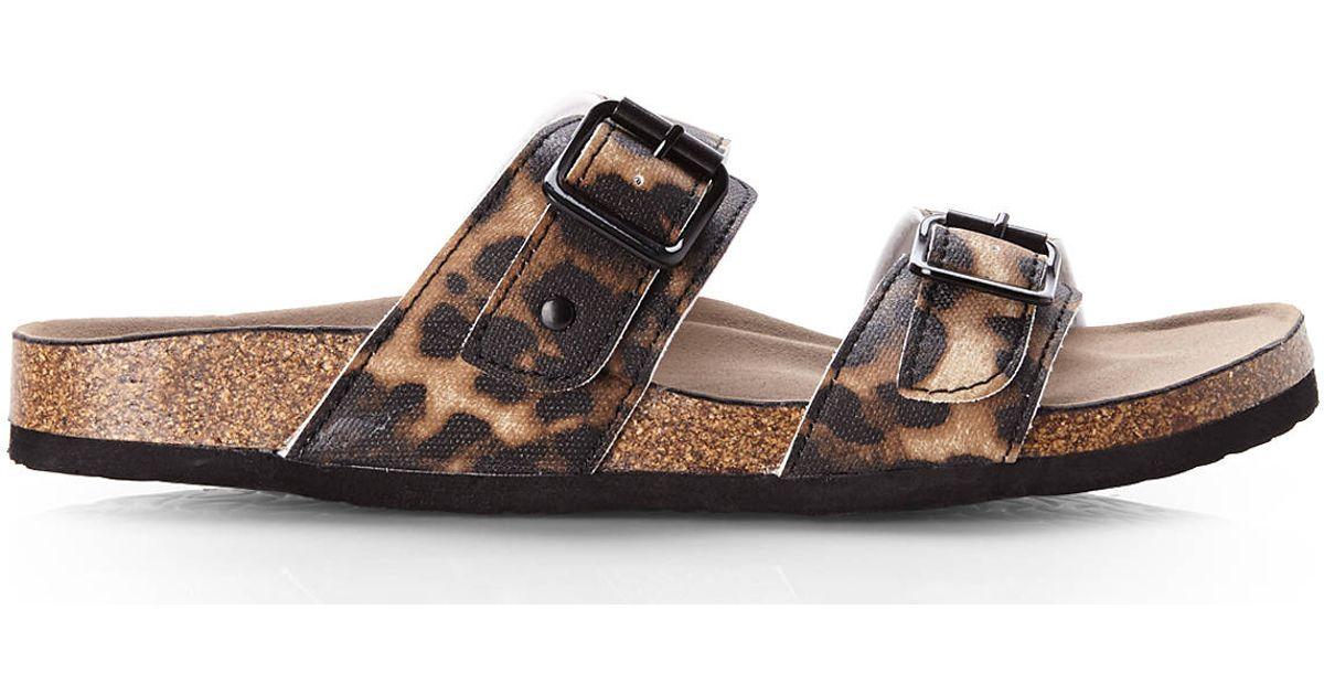 56a363aeccd Madden Girl Multicolor Leopard Print Brando Sandals