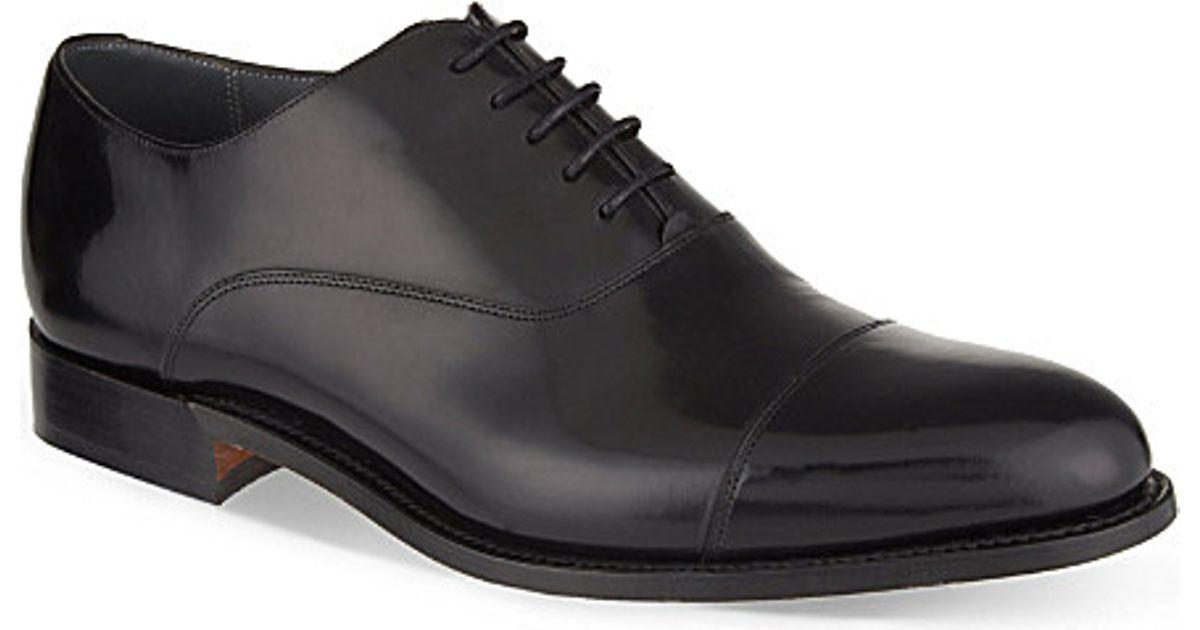 Barker Mens Oxford Shoes Black