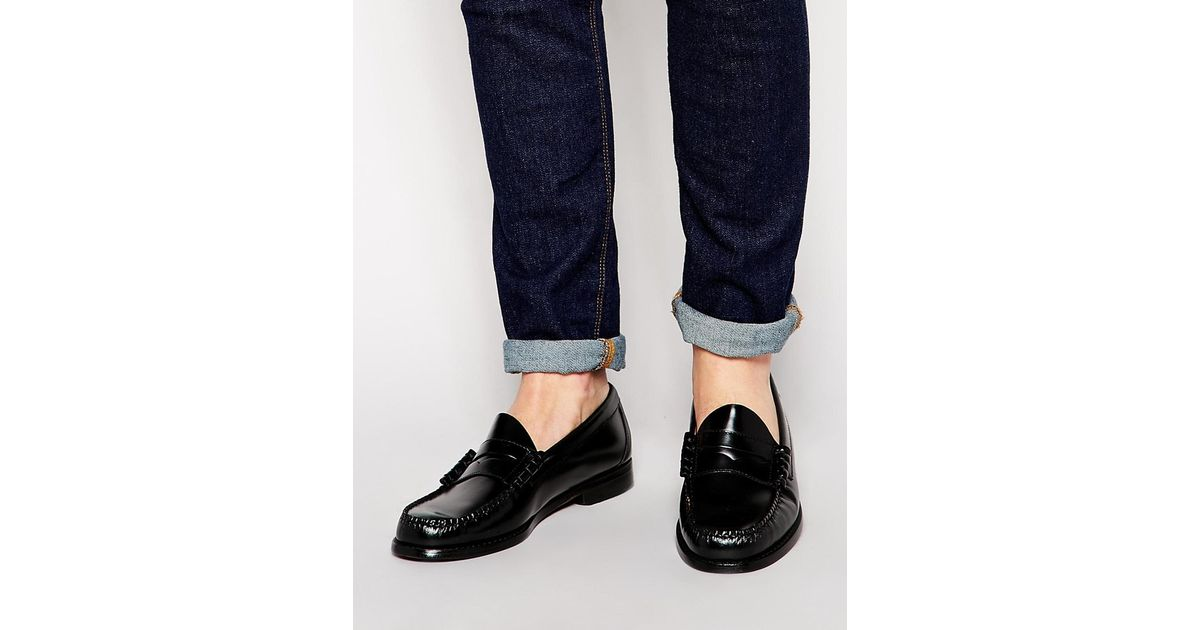 641aa7b9a49 Lyst - G.H.BASS Gh Bass Larson Penny Loafers in Black for Men