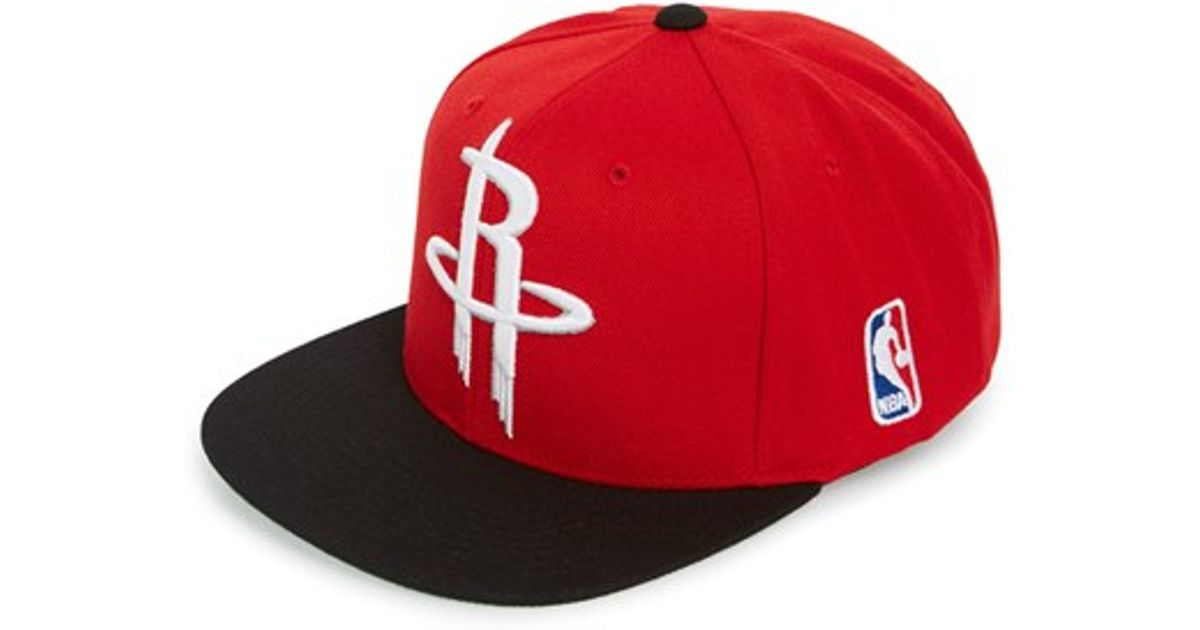 Lyst - Mitchell   Ness  houston Rockets - Xl Logo  Snapback Cap in Red for  Men fb50cd97ae1