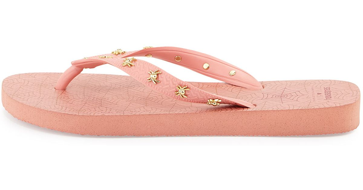 b6df518f886f Lyst - Charlotte Olympia Charlotte s Web Havaianas Light Rose Rubber Flip  Flop in Pink