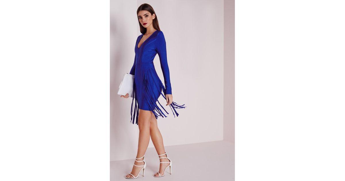 Blue Fringe Dress