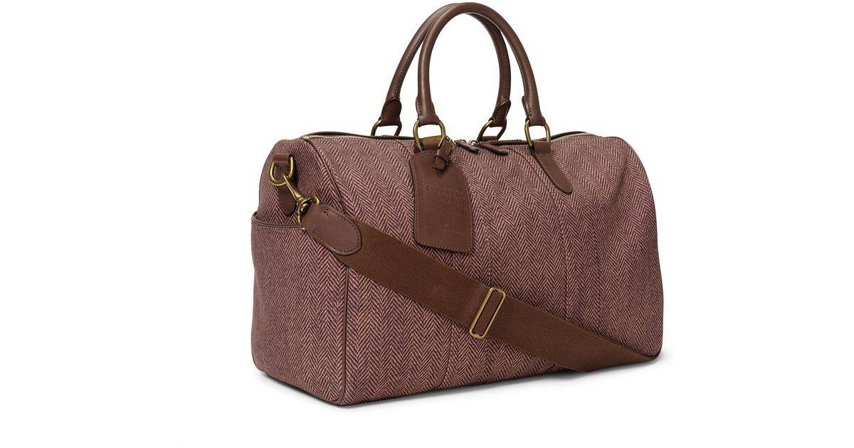 f6f9609b4581 Ralph Lauren Herringbone Duffel Bag in Brown for Men - Lyst