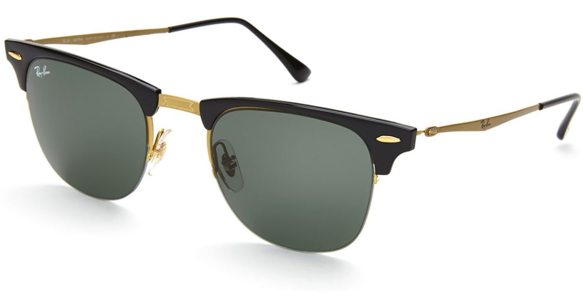 ray ban half frame glasses gold