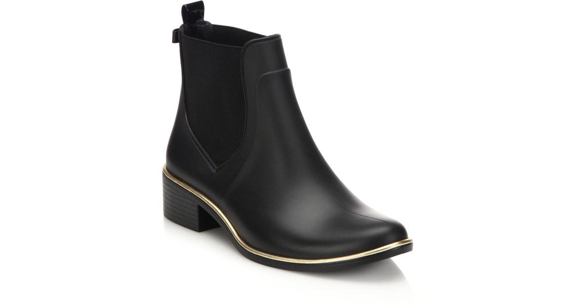 Kate Spade Sedgewick Rubber Chelsea Rainboots In Black - Lyst-9955