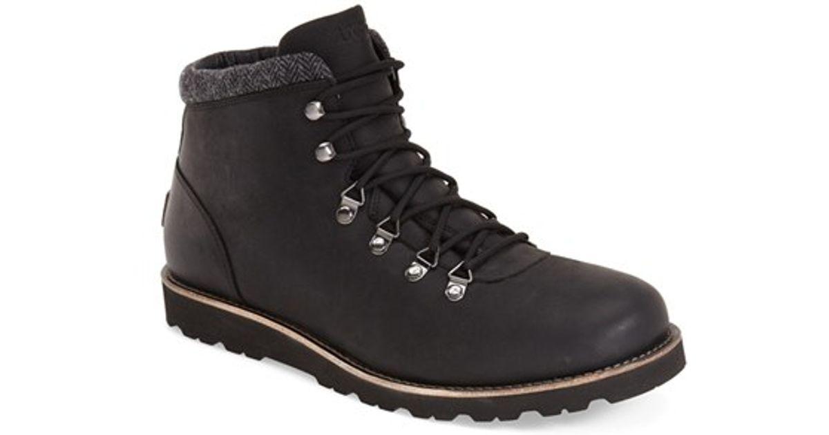 ugg ugg boysen waterproof boot in black for lyst