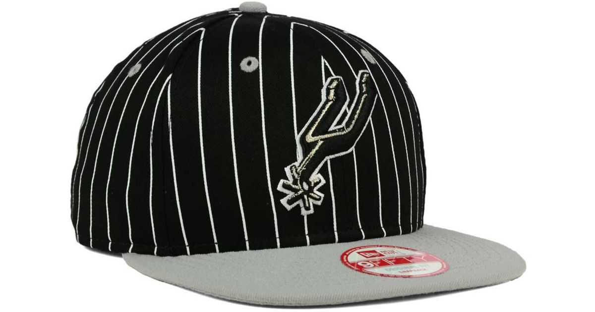 new style 9c2ff 241b2 Lyst - KTZ San Antonio Spurs Vintage Pinstripe 9fifty Snapback Cap in Black  for Men