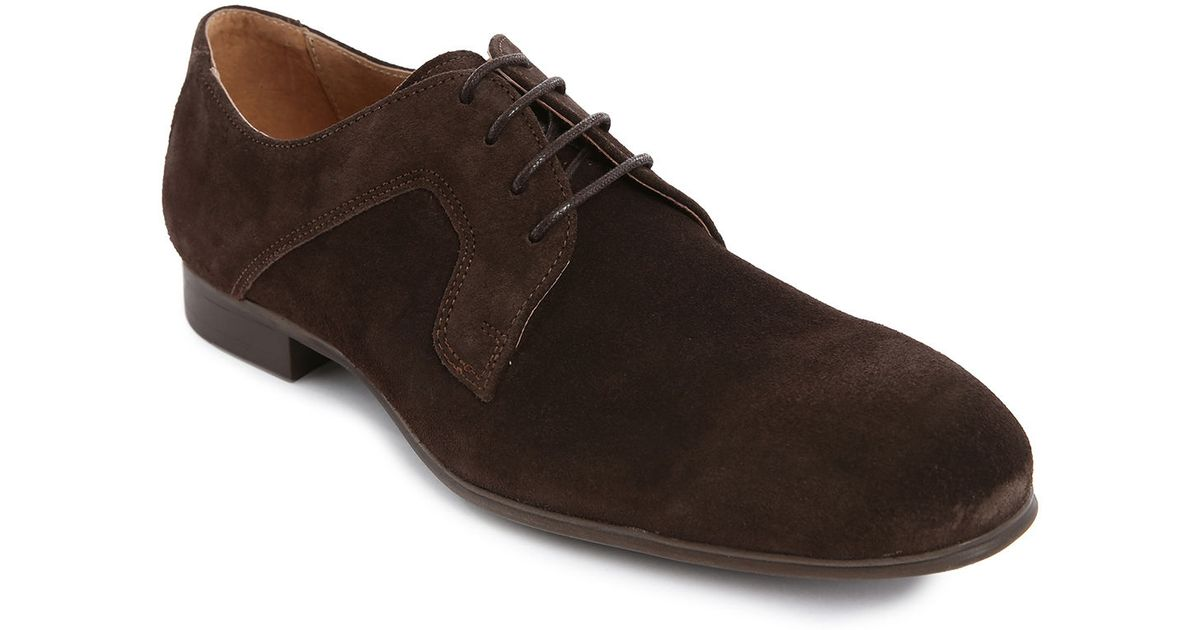selected brown suede brogue shoes in brown for