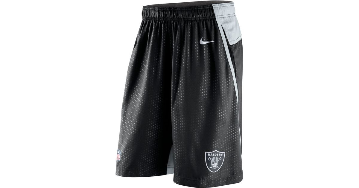 0c82f68b Nike Men's Oakland Raiders Dri-fit Fly Xl 3.0 Shorts in Black for Men - Lyst