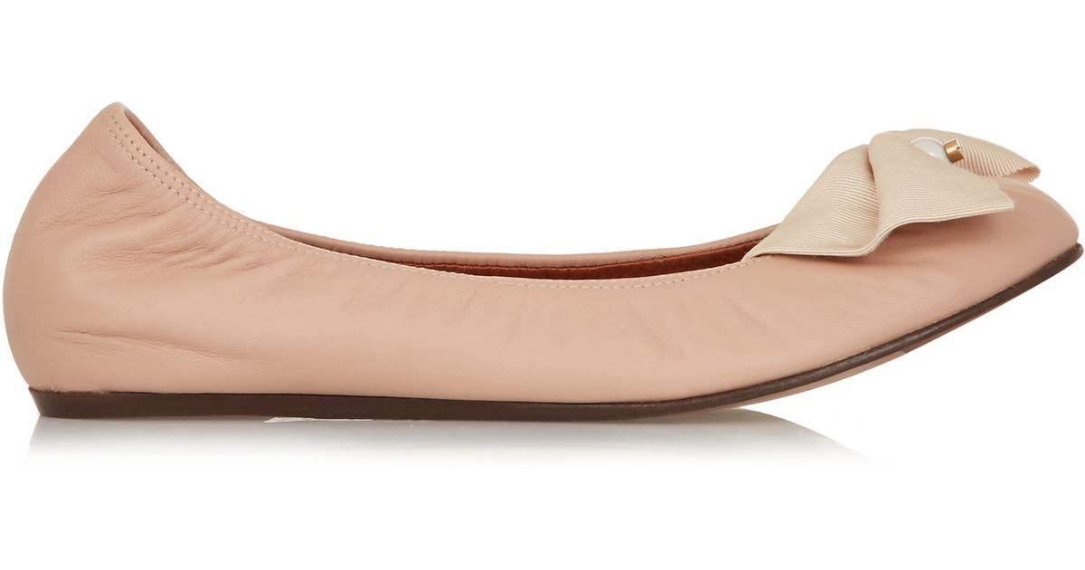 outlet store sale online outlet genuine Lanvin Leather Embellished Flats authentic cheap price Manchester sale online jZraoWIA