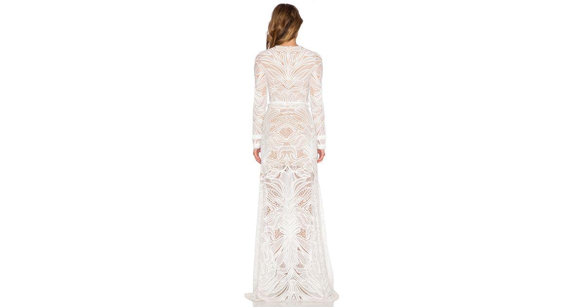 241401d2f03e Alexis Vice Lace Maxi Dress in White - Lyst