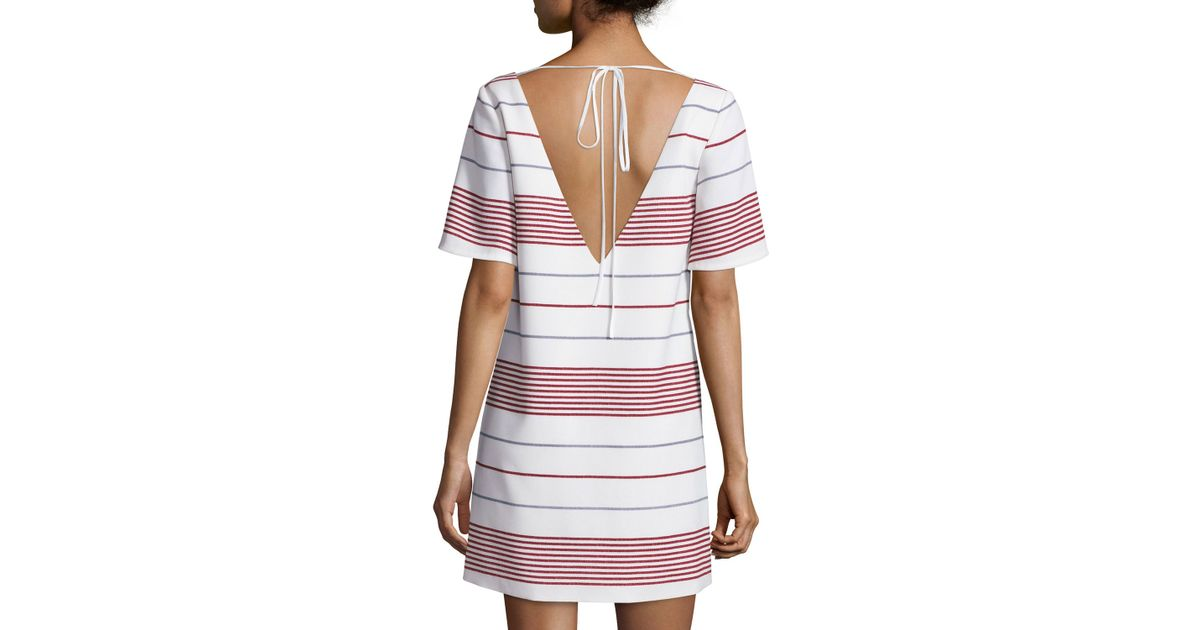 Outlet With Paypal Order Online Elizabeth and James Striped Mini Dress Cheap With Paypal Cheapest Sale Online Clearance Footaction Cheap Sale 100% Guaranteed zUj24UMGcc