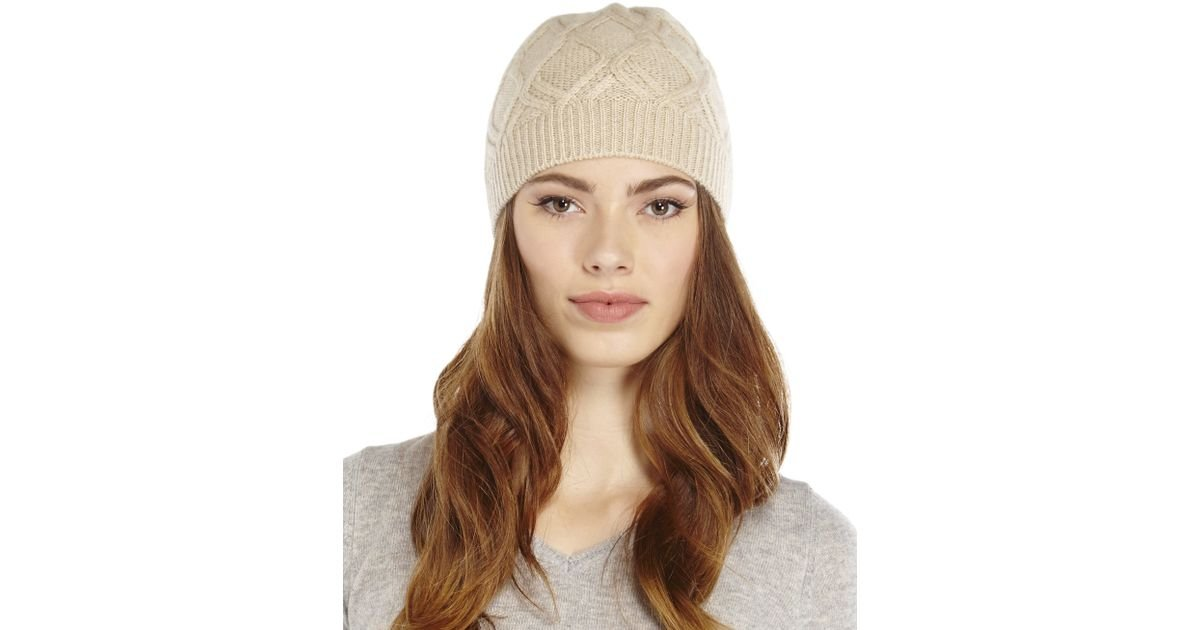 13890e55ab0 Forte Natural Cashmere Wondering Cable Knit Hat