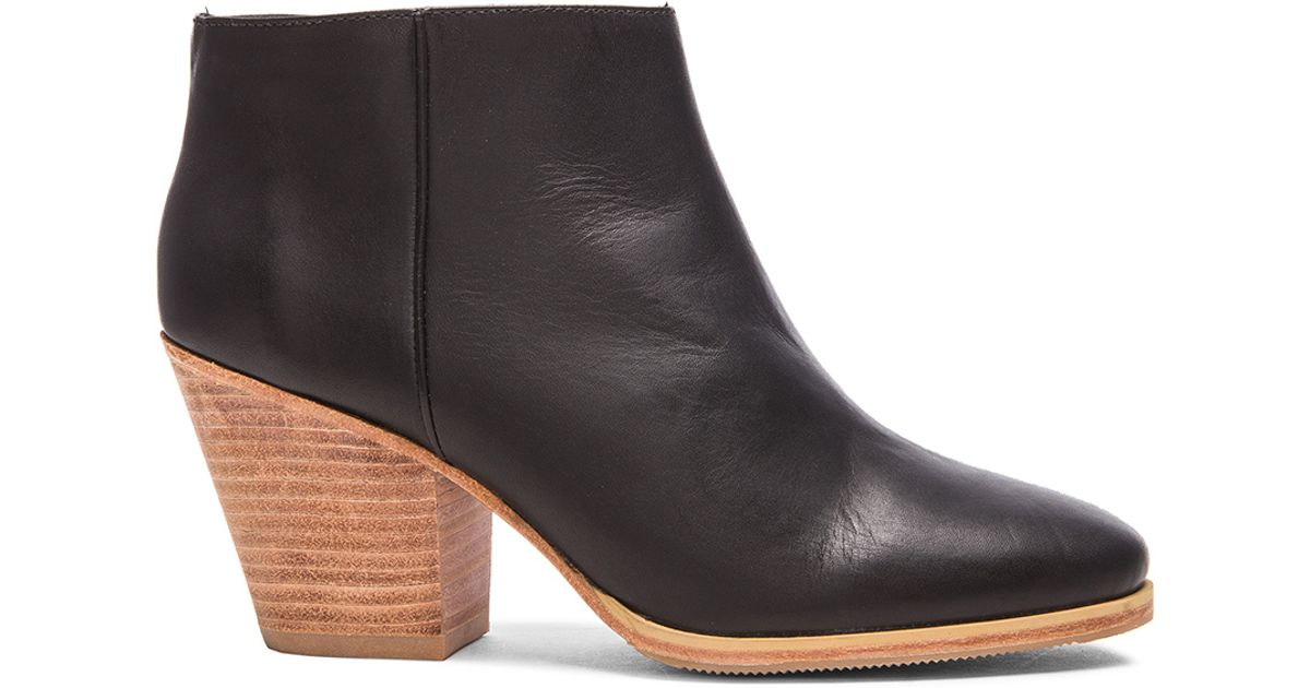 f4c7e47e0cce Lyst - Rachel Comey Mars Leather Booties in Black