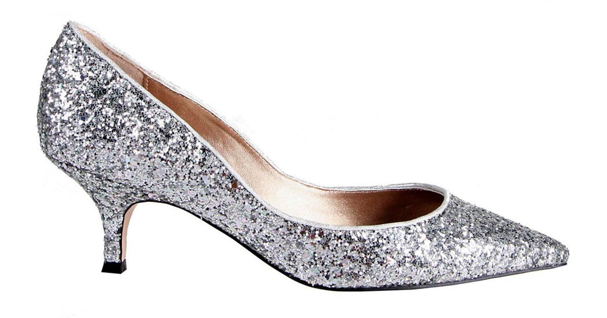 208da7bc21f9f Belle By Badgley Mischka Puma Glitter Kitten Heels in Metallic - Lyst