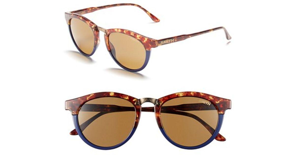 dc38b5af5a14c Lyst - Smith Optics  questa  49mm Cat Eye Sunglasses in Brown