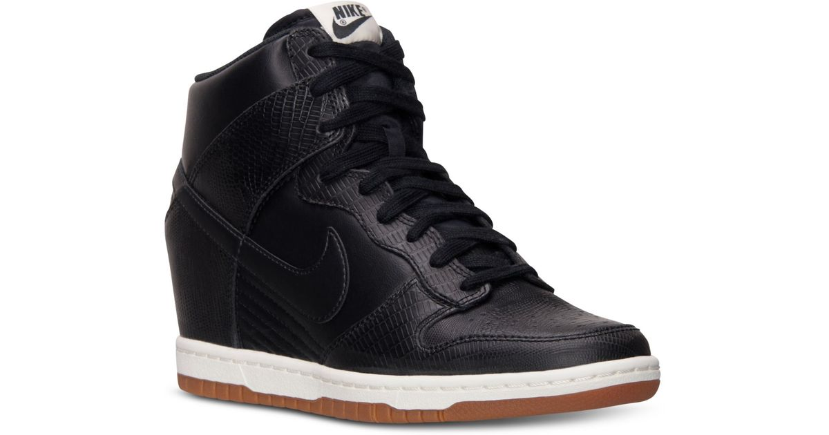 the latest ba571 bd483 Lyst - Nike Women S Dunk Sky Hi Casual Sneakers From Finish Line in Black