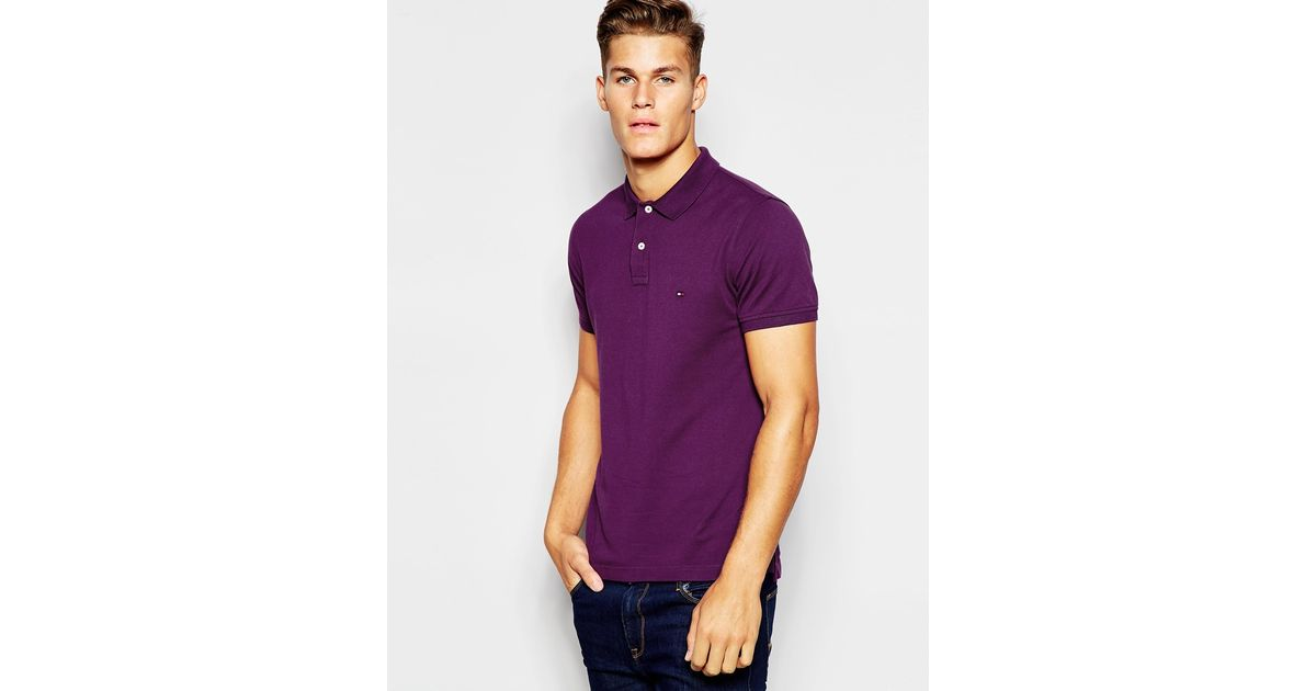 tommy hilfiger polo with contrast under collar in new york. Black Bedroom Furniture Sets. Home Design Ideas