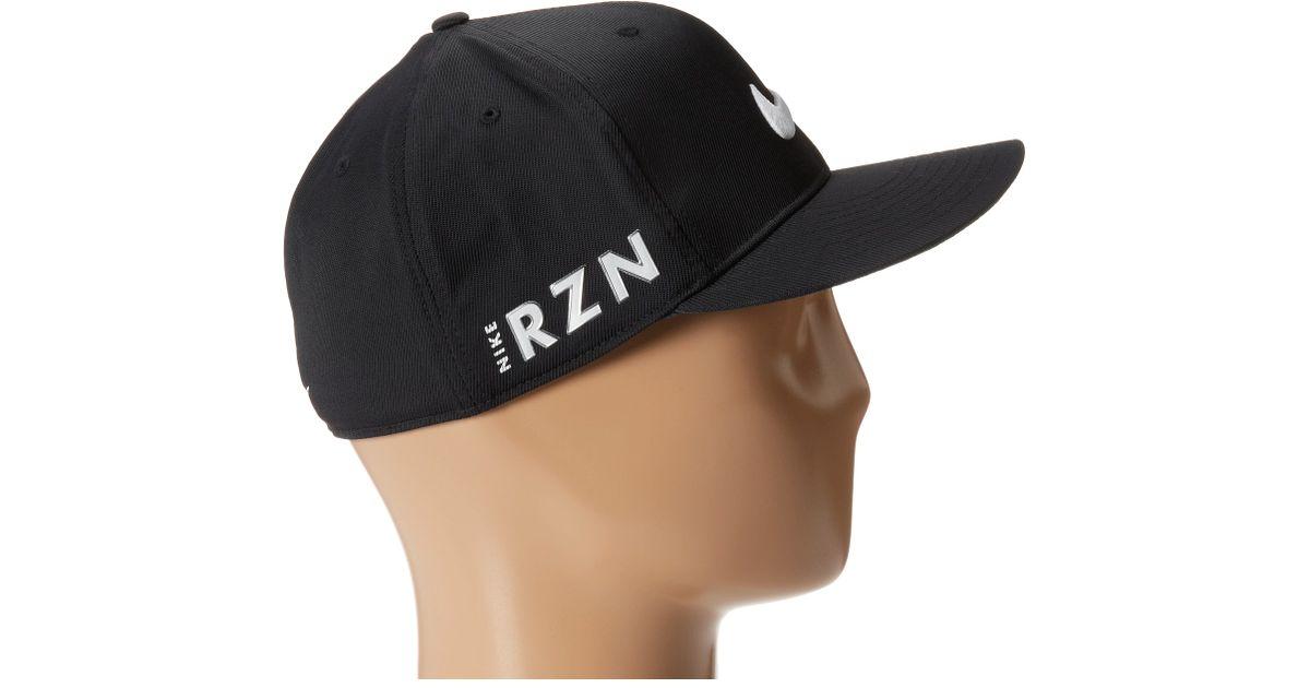 87c6b4bf Nike Flat Bill Tour Cap in Black for Men - Lyst