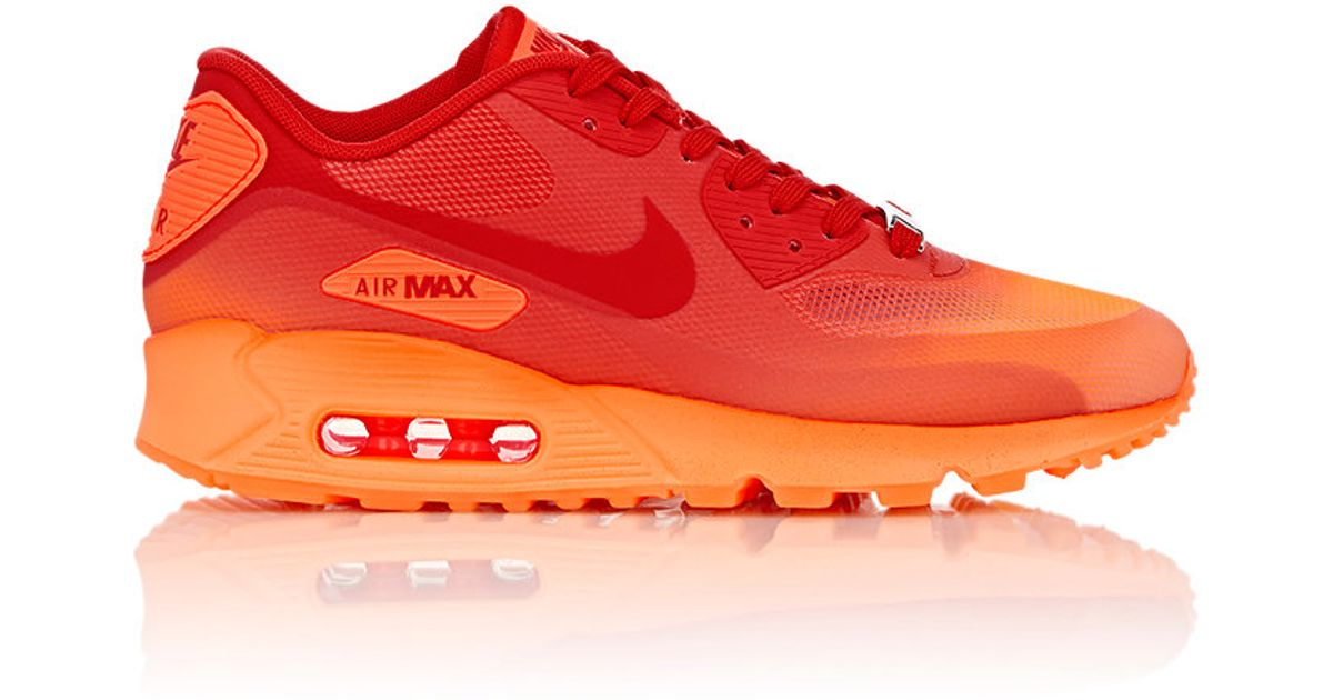 official photos 806e8 a9a97 ... challenge red atomic orange 9a414 0ed31  where to buy lyst nike air max  90 hyperfuse qs milan sneakers in orange 75ce6 fcf0a
