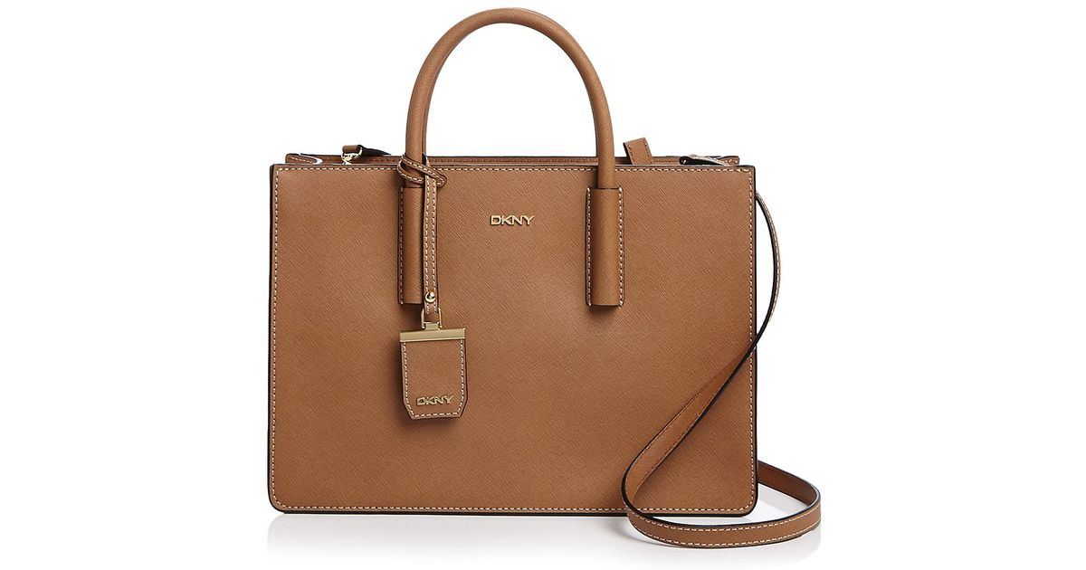 2d348adb7 DKNY Bryant Park Saffiano Tote in Brown - Lyst