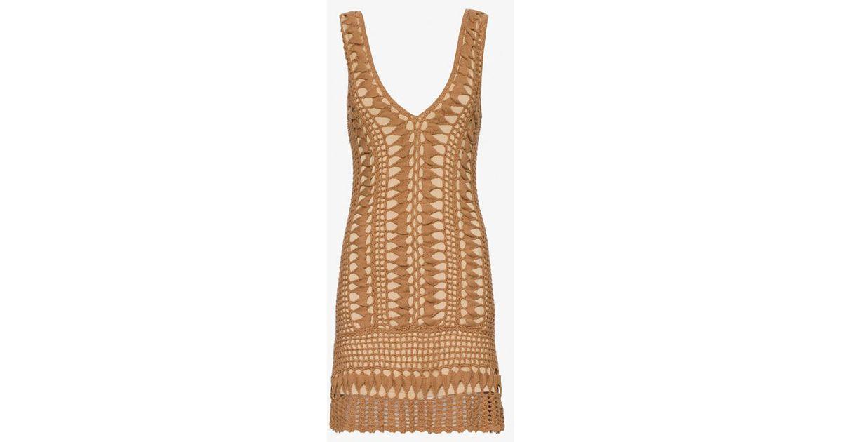 88ff4bdae12 Melissa Odabash Alexis Crochet Dress in Brown - Lyst