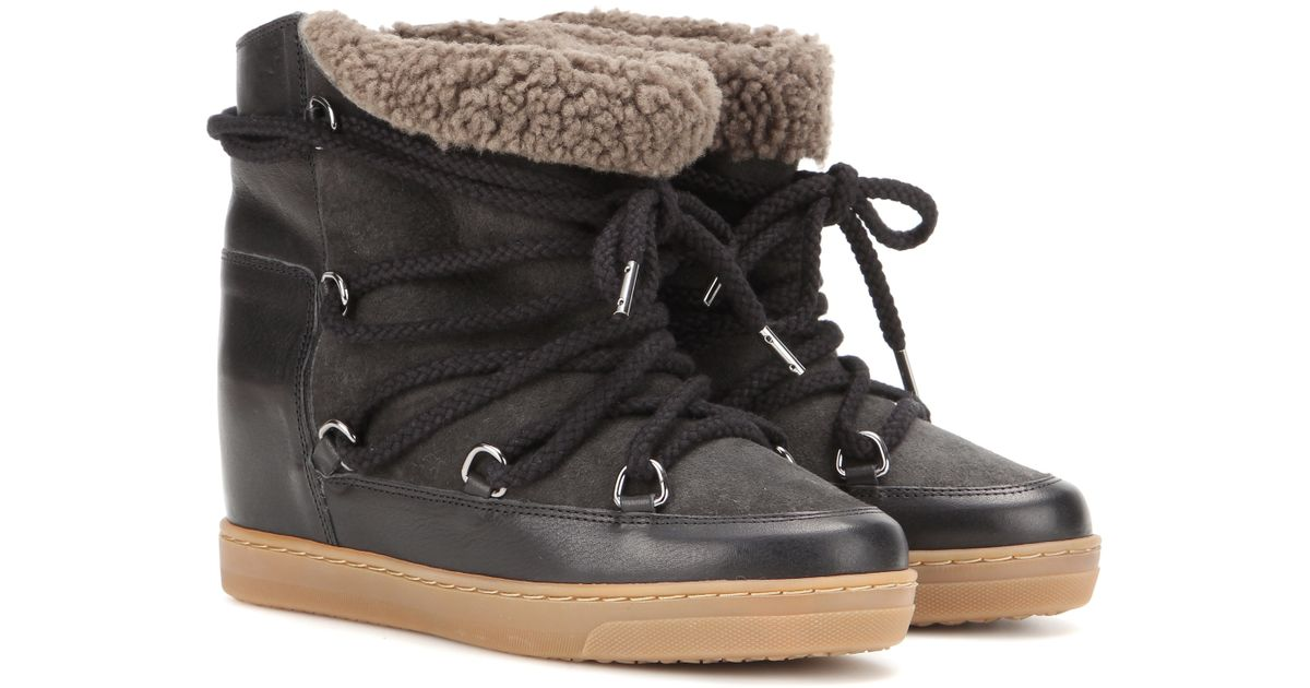 official supplier nice cheap shoes for cheap Isabel Marant Étoile Nowles Ankle Boots in Black - Lyst
