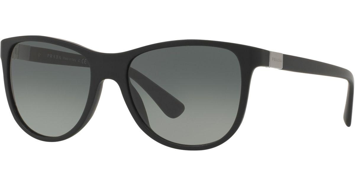 Lyst - Prada Spr20s D-frame Sunglasses in Black
