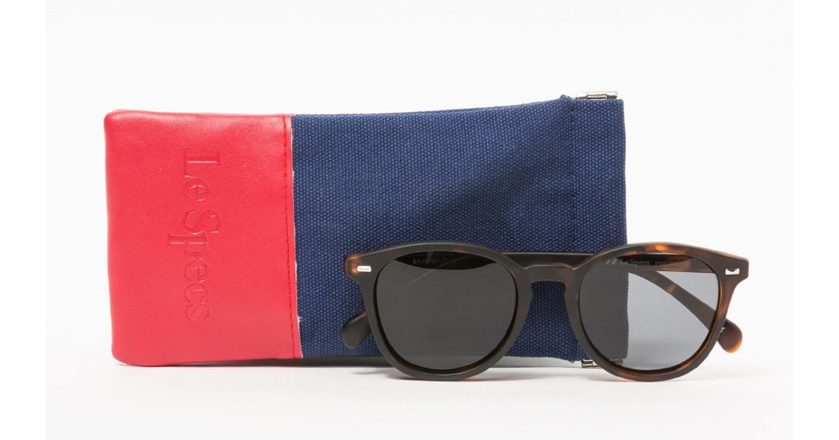 e16ea5979033d Le Specs Bandwagon In Matte Tort in Brown - Lyst