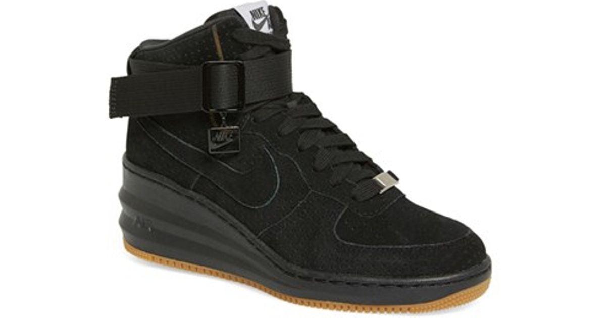 27e8172057da Lyst - Nike  lunar Force Sky Hi  Wedge Sneaker in Black