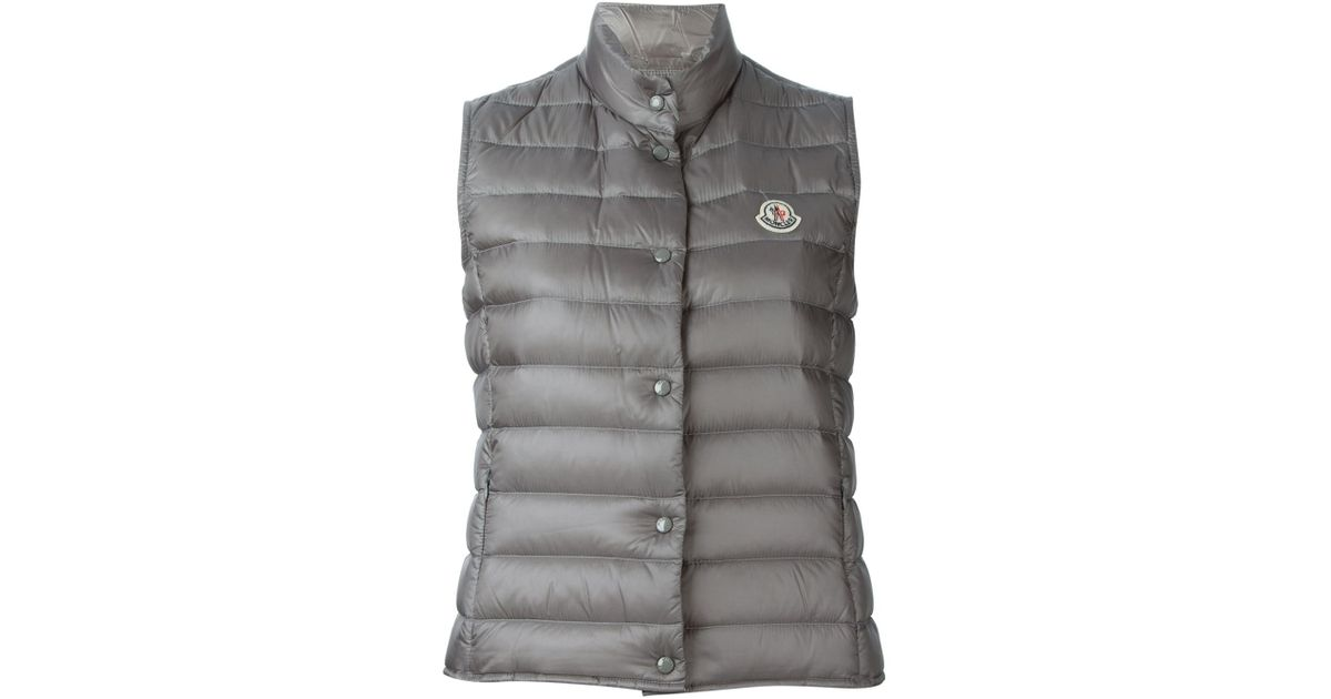 7f5ca36a0 Lyst - Moncler Liane Down Puffer Gilet in Gray