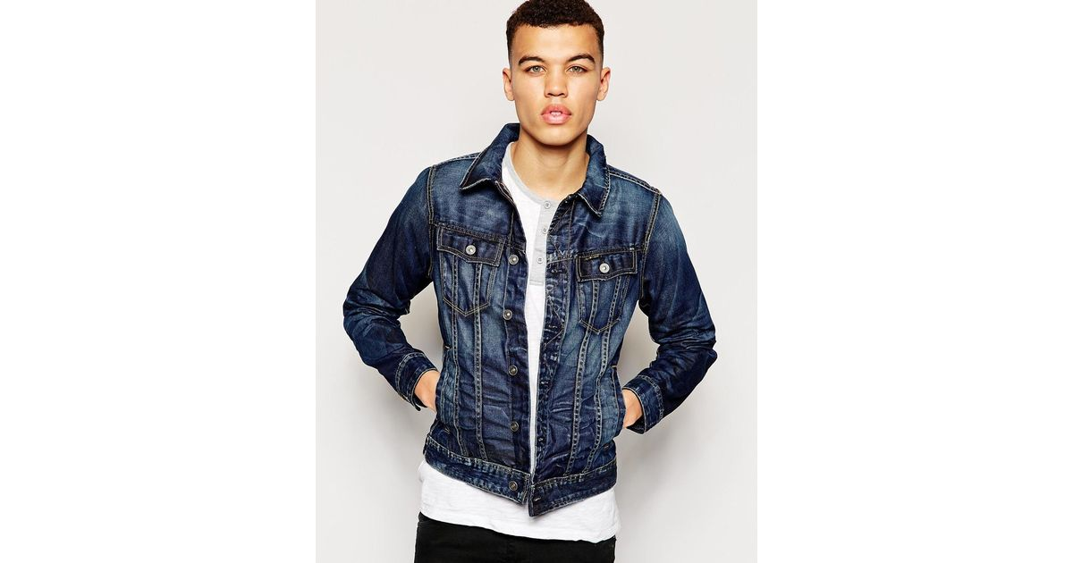 90f64a9bf85 G-Star RAW G Star Denim Jacket Slim Tailor 3D Vintage Medium Aged in Blue  for Men - Lyst