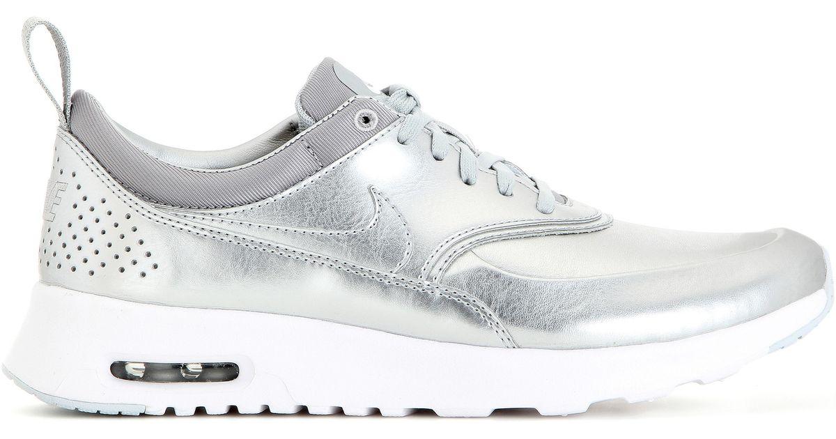 cd317fc29c29 Lyst - Nike Air Max Thea Metallic Silver Sneakers in Metallic
