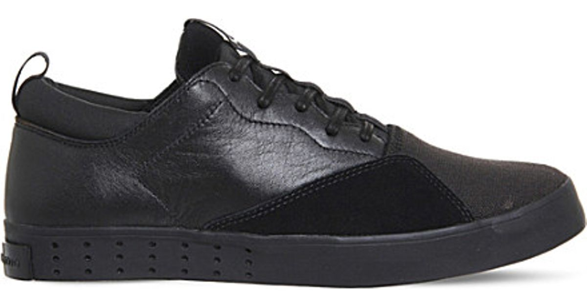 0e007708b Y-3 Laver Sigma Suede Leather And Mesh Trainers in Black for Men - Lyst