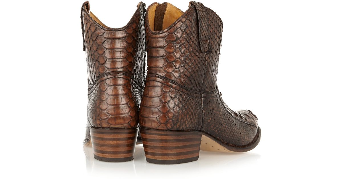 39dfad47d39 Frye Brown Deborah Python Boots