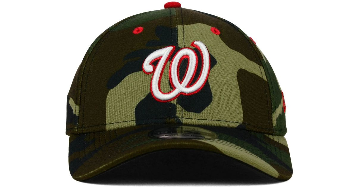 Lyst - KTZ Washington Nationals Camo Classic 39thirty Cap in Green 8e615b36257