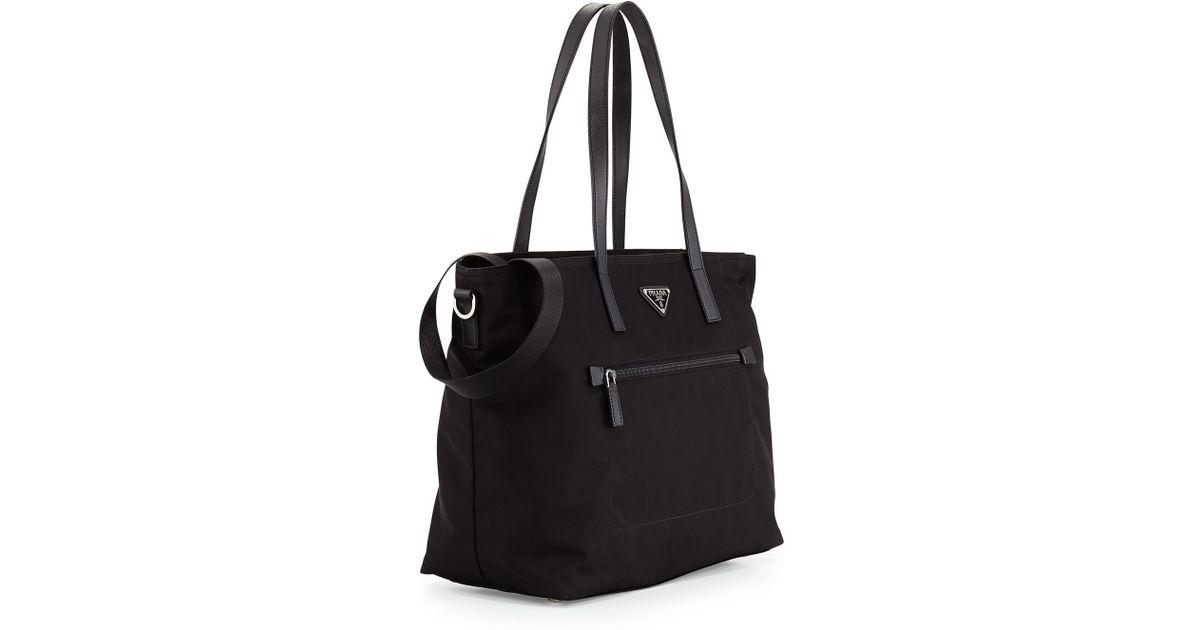 6119f05a7e32 ... sweden lyst prada vela zip front tote bag in black 093e2 84c4c