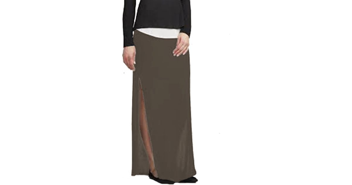 bailey 44 astaire maxi skirt in taupe in brown lyst
