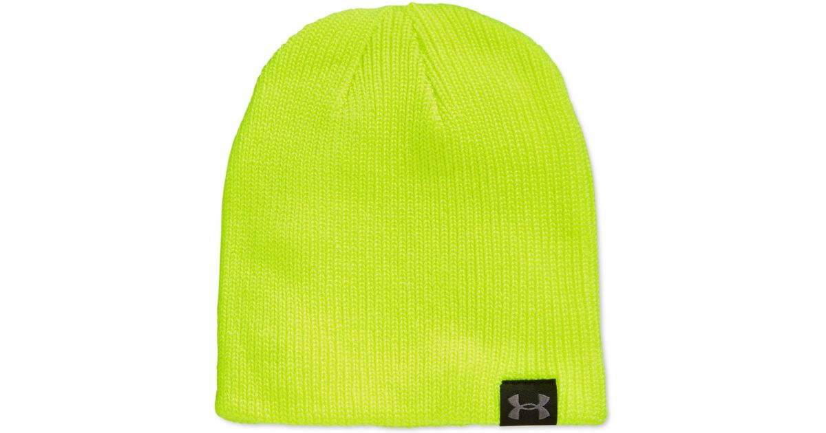 8422b126bde Lyst - Under Armour Ua Basic Knit Beanie in Yellow for Men