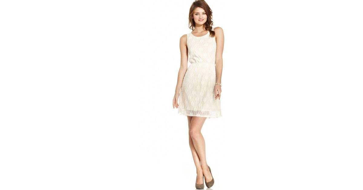 fcc5aeaee Lyst - American Rag Lace Cutout Dress in White