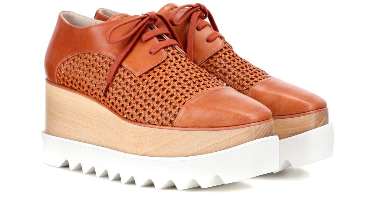 stella mccartney wicker elyse platform derby shoes in