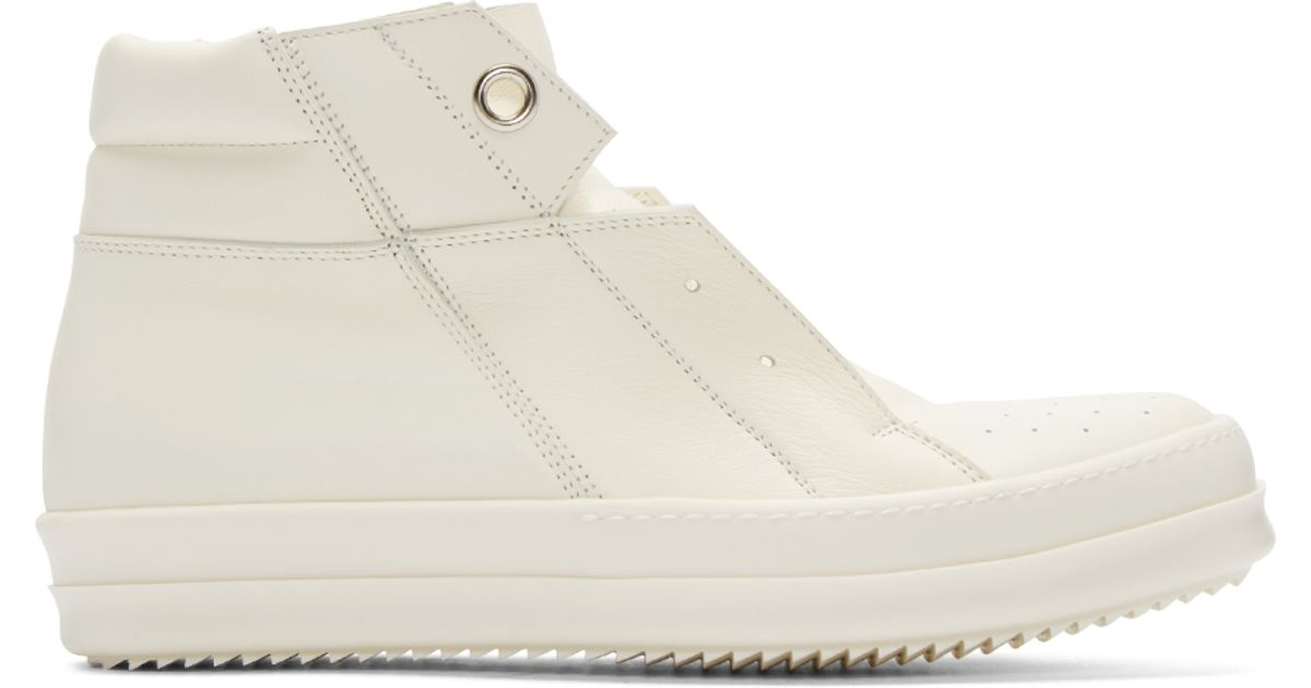 another chance ad146 e54e9 Lyst - Rick Owens White Island Dunk High-top Sneakers in Whi