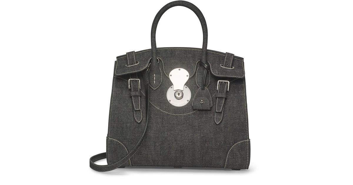 ee69f58c9887 Lyst - Ralph Lauren Denim Ricky 33 Bag in Black