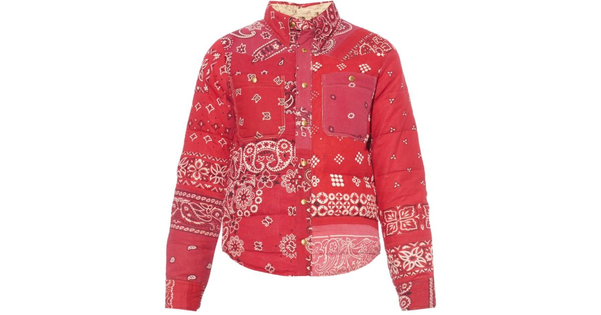 825cf9f33 Visvim Red Kerchief Paisley-Print Coat